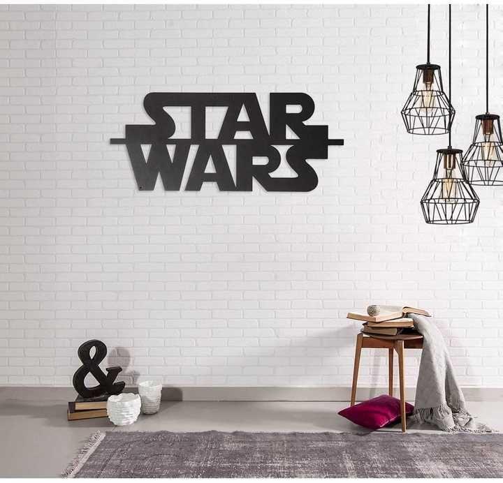 Métal Décor Star Wars   Wanddeko   Schwarz   Werbung #StarWars #Wanddeko  #Wanddekoration