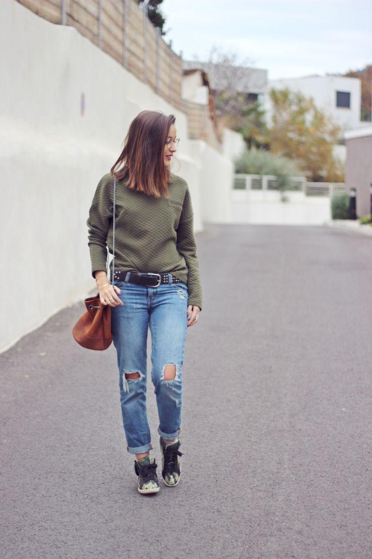 La blogueuse She Wears porte notre jeans boyfriend #look #jeans #denim #blogmode #fashion