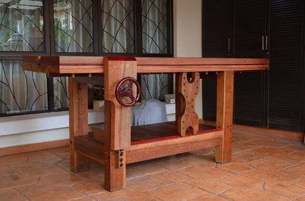 Split Top Roubo Workbench made of tropical hardwood. | workbenchs | Pinterest | Woodworking ...