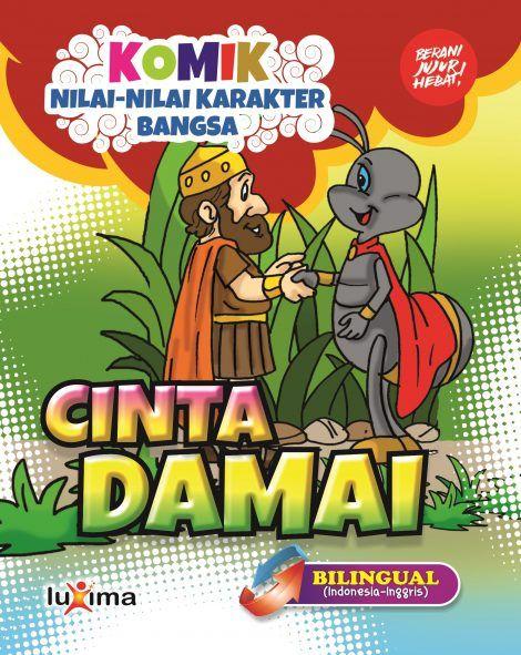 download gratis ebook komik nilai nilai karakter bangsa cinta damai bilingual bahasa indonesia dan bahasa inggris