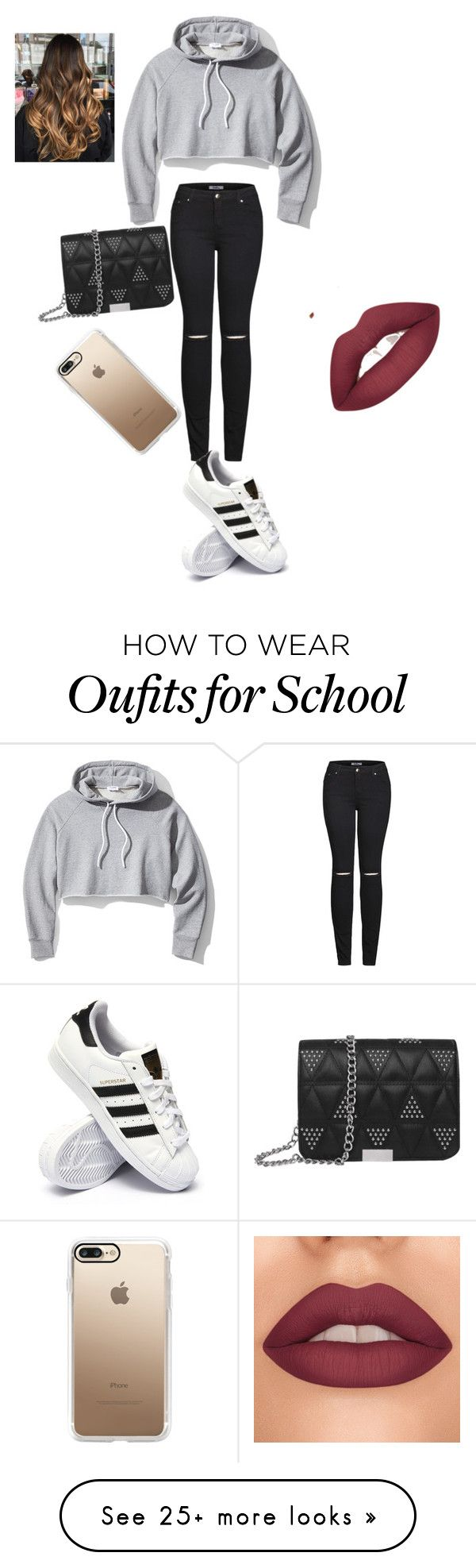 """""""school look"""" by amayagenesis664 on Polyvore featuring Frame, 2LUV, adidas and Casetify"""