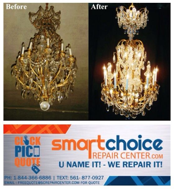 11 best chandelier repair images on pinterest 1 chandelier and we repair and restore all types of chandeliers from rusting peeling to rewiring are the crystals missing or need cleaningtake a picture and text it to mozeypictures Choice Image