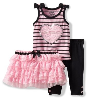 Pusat Baju Pesta Bayi Perempuan - Young Hearts Bayi-Bayi perempuan 3 Piece pullover Dengan Rok Dan Pant   Pusat Baju Bayi Terbesar dan Terlengkap Se indonesia