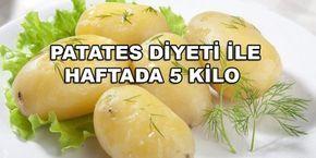 1 hafta uygulayacağınız patates diyeti, kilo vermenizi sağlayacaktır. Diyet boyunca şekerli gıdalardan ve içeceklerden uzak durun. Şeker ihtiyacını bastırmak için meyvelerin üz