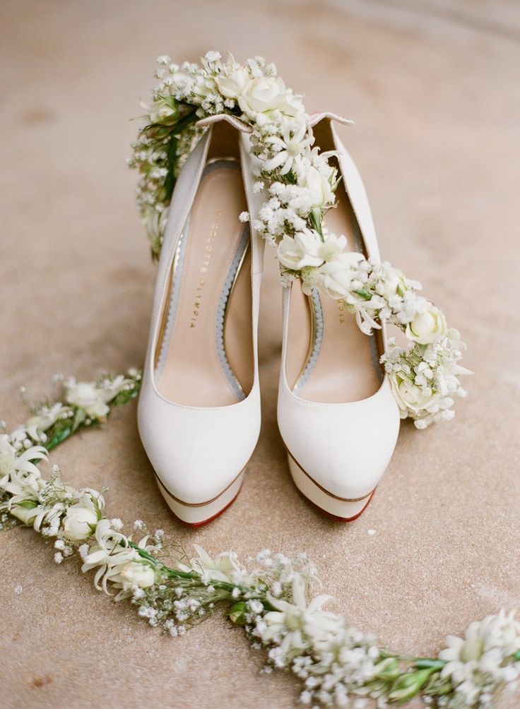 Charlotte Olympia shoes and garland