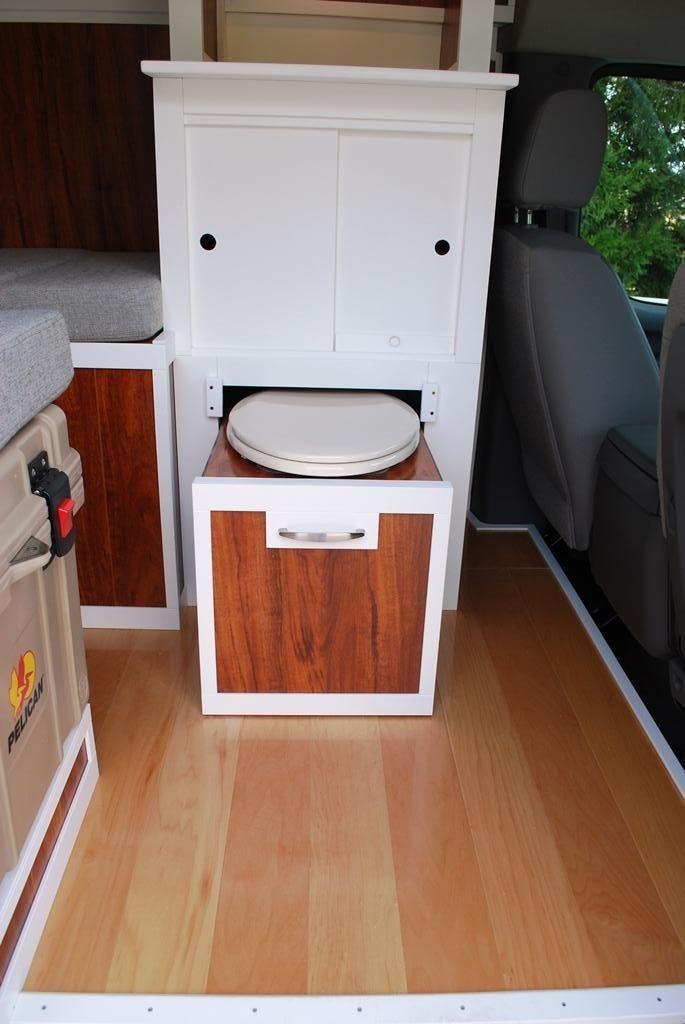 Clever Portapotty Zieht Einfach Aus Dem Schrank Clever Simple Cargo Trailer Camper Transporter Inneneinrichtung Truck Camper