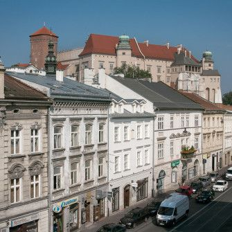 Wawel Castle View and Stradomska Street. Kraków.