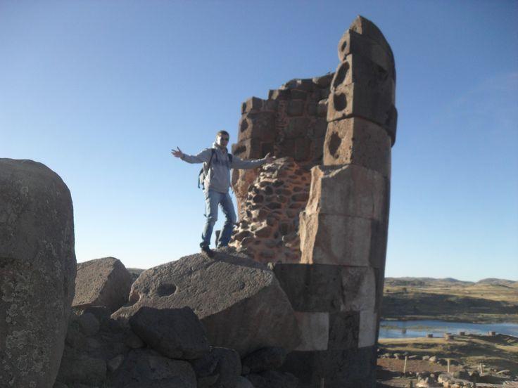 Begräbnistürme von Sillustani bei Puno in Peru.