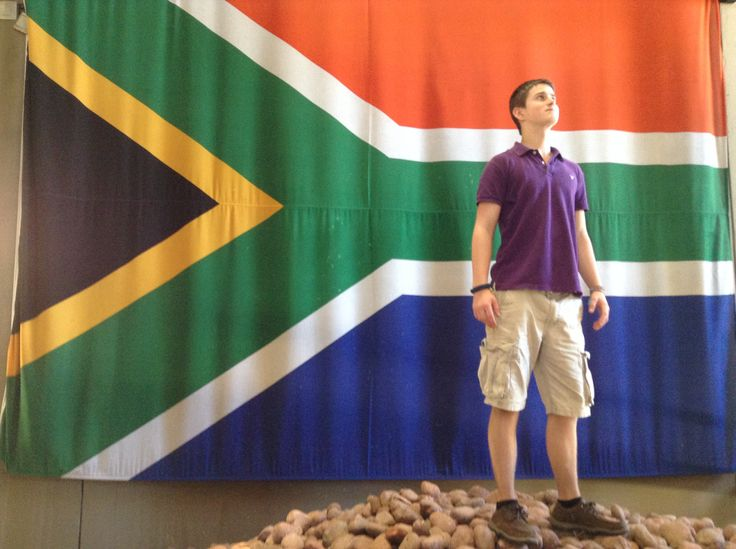At the Apartheid museum in Johannesburg.