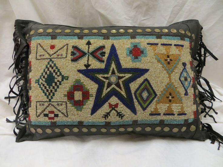 Double D Ranch Cayuse Beaded Pillow   Jenny Longhorn