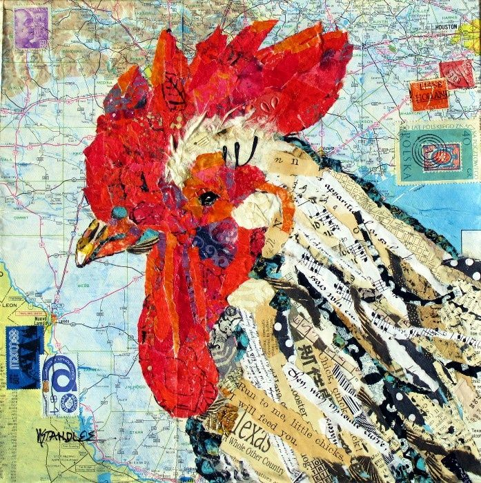 chicken feather collage - Google Search
