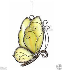 Stained Glass Yellow Butterfly.