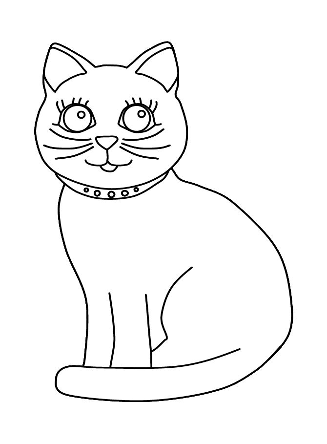 purple cat--coloring activity for older kids | Cat ...