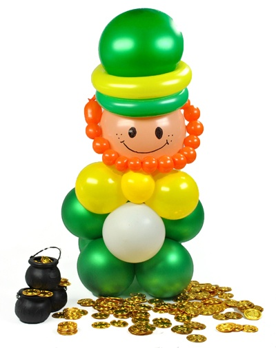 Cómo hacer un duende irlandés, ¡con globos! En blog.fiestafacil.com / How to make a leprechaun, with balloons! From blog.fiestafacil.com