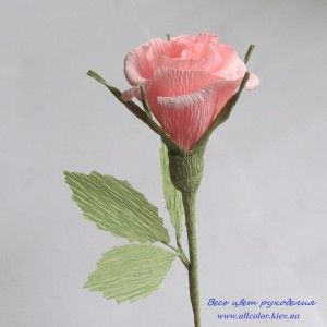 Мастер-класс с набором материалов для создания розы из креп бумаги.