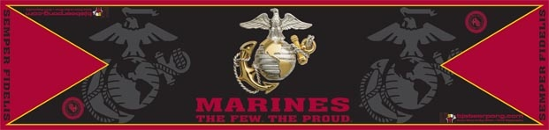 US Marines -  The Few The Proud   Pro Table $129.95  Beer Pong Table  http://megabeerpong.com/bjs-beer-pong