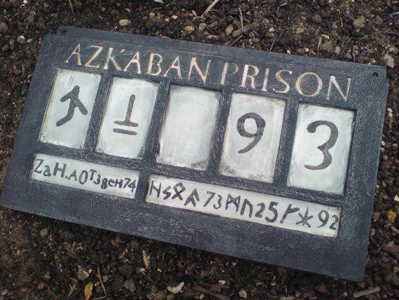 Bellatrix Lestrange Azkaban Prison sign $85.41