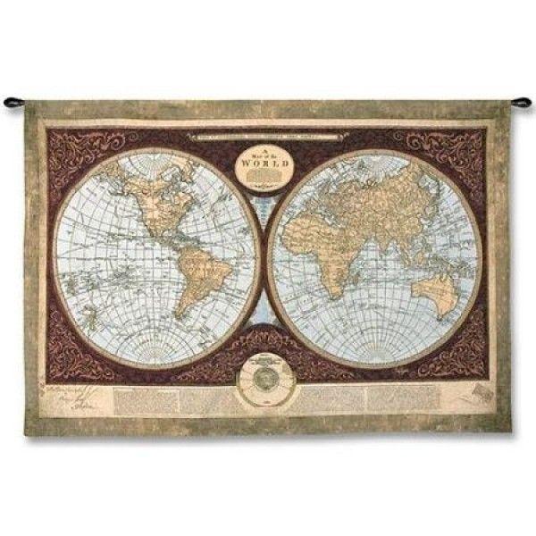 гобелен  Карта мира ( большой)