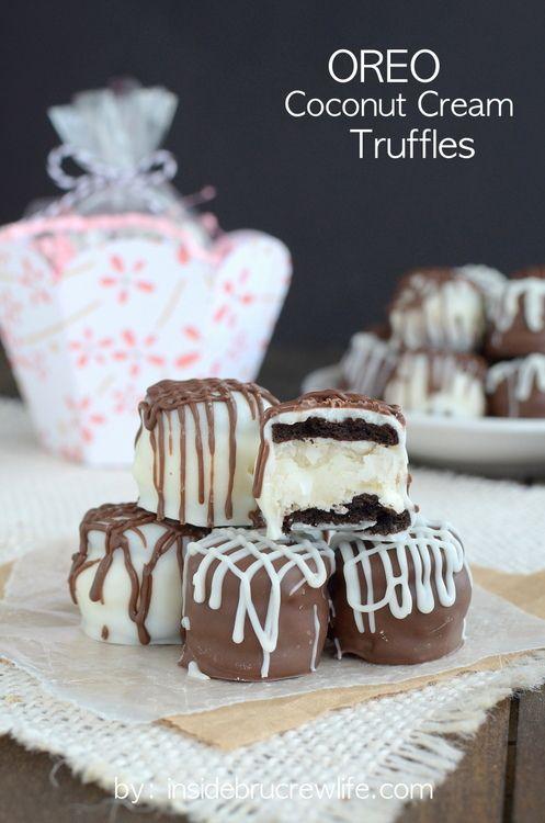 Oreo Coconut Cream Truffles #desserts #dessertrecipes #yummy #delicious #food #sweet