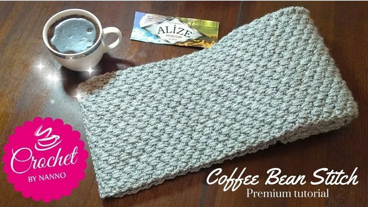 How to Crochet a Scarf for Men #1 New Stitch ☕ The Crochet Shop Exclusiv...