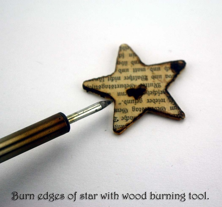 more wood burning ideas: Burnt Offerings Decoupage Necklace