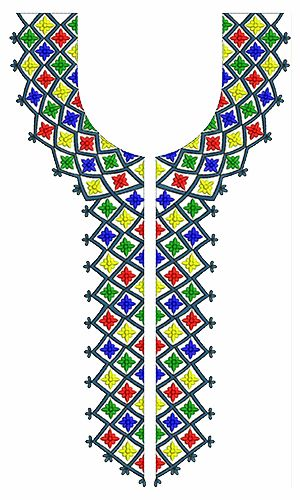 9752 Neck Embrodery Design