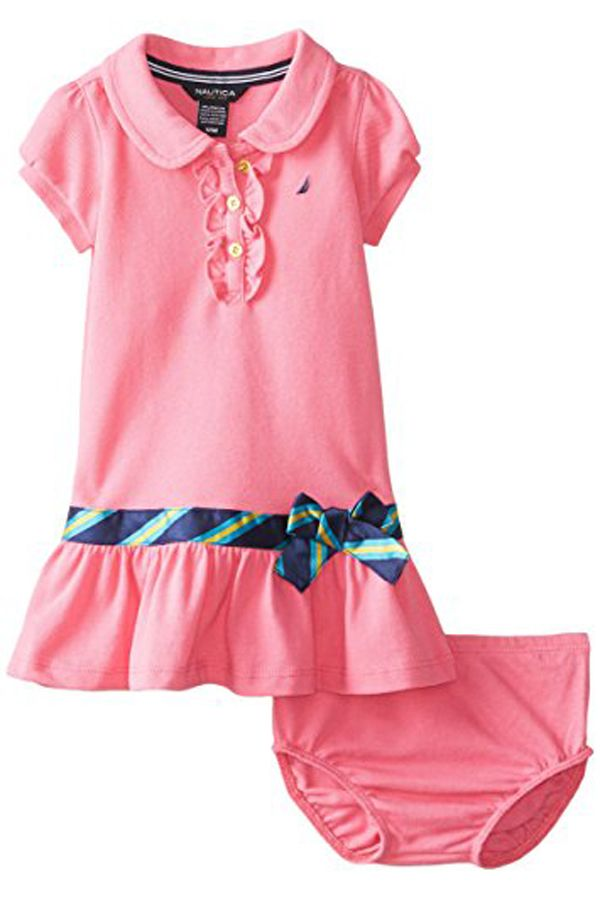ef82612fc Nautica Baby Girls  Short Sleeve Polo Dress