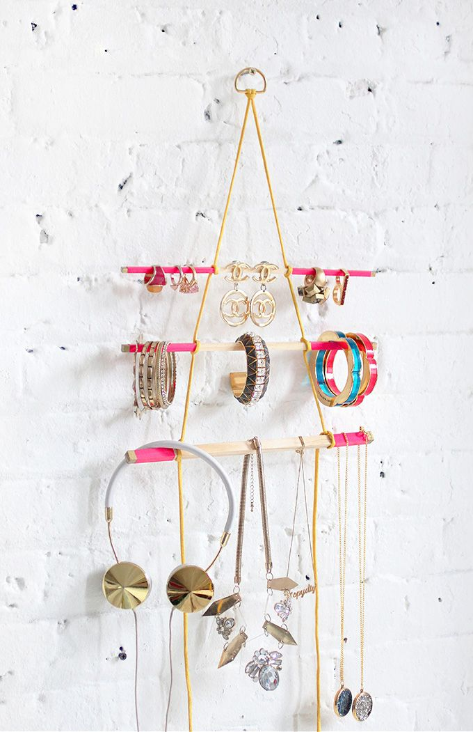 DIY jewelry holder ideas, display, storage, organizer, wall, frame, plates, stand, easy, for necklaces, box, earrings, tree, tutorials, bracelets, necklace, boho, cleaner and for kids