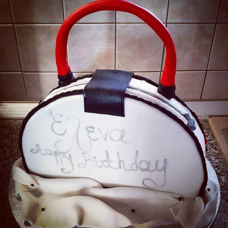 Handbag fondant birthday cake