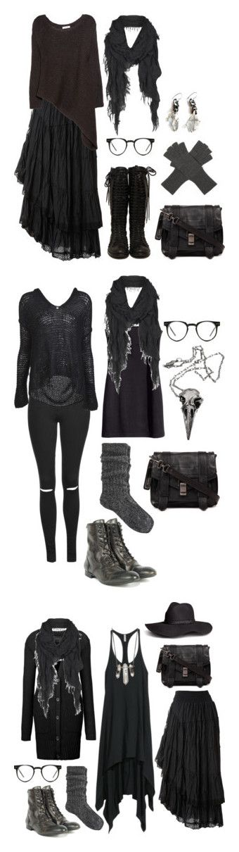 """""""Wood Witch Wardrobe"""" by n-nyx ❤ liked on Polyvore featuring Raxevsky, Helmut Lang, Proenza Schouler, AllSaints, Unearthen, Marc Jacobs, Spitfire, Topshop, Nili Lotan and H&M"""