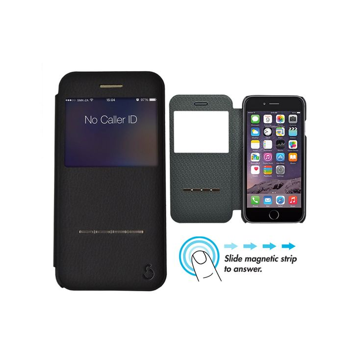 Smaak™ Yuppie Premium Leather Flip Case for iPhone 6 – Black. For more info visit www.ismaak.co.za