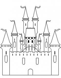 How to draw a castle step by step buildings landmarks for Building drawing online