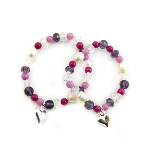 Charm Stretch Bracelet Pippin Kit Purple RRP £14.99 from Burhouse Beads