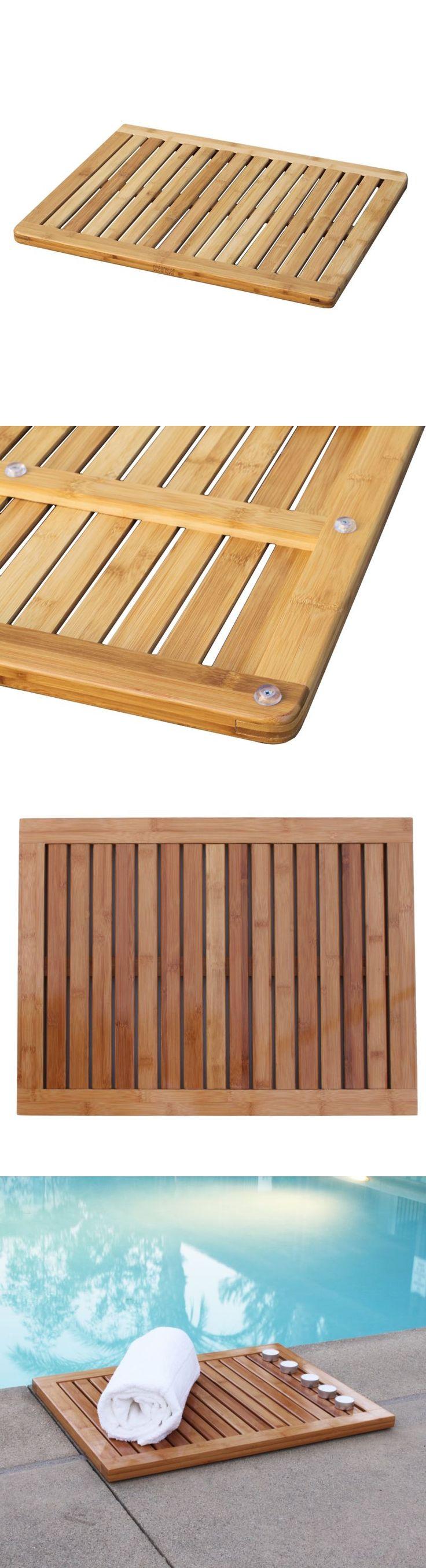 Maestro bath slide front page - Non Slip Appliques And Mats 66722 Bamboo Mat Shower Floor Wooden Bath Non Slip