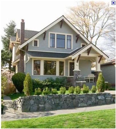 Cute craftsman home house exterior ideas pinterest for Craftsman house for sale