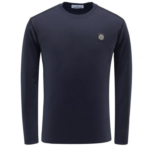 Men's Stone Island Crew Neck Long Sleeve Polo T-Shirt