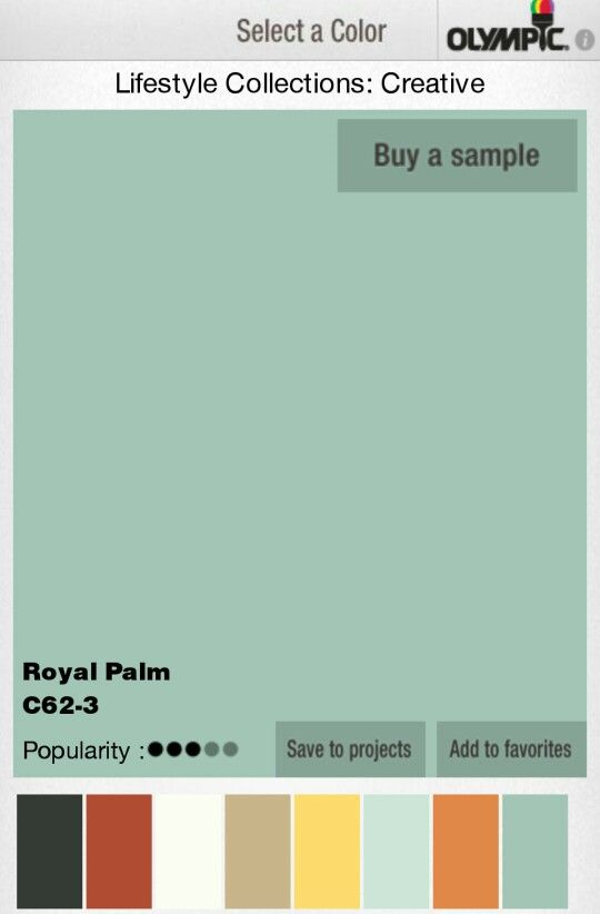 Royal Palm Lowes Olympic Paint Color Combos Pinterest