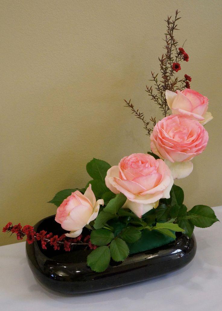 Arreglo con rosas rosadas
