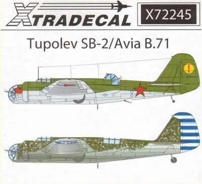 Xtradecal 1/72 scale Tupolev SB-2/Avia B.71 Decal Review by Mark Davies   FLY models   Pinterest   Scale