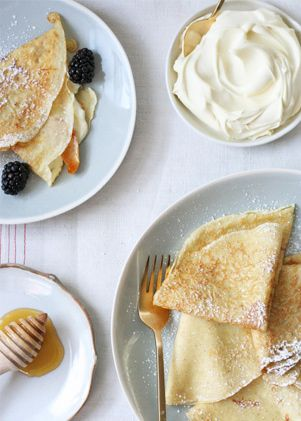 Sweet crepes with caramelized pears. Get the recipe via @PureWow