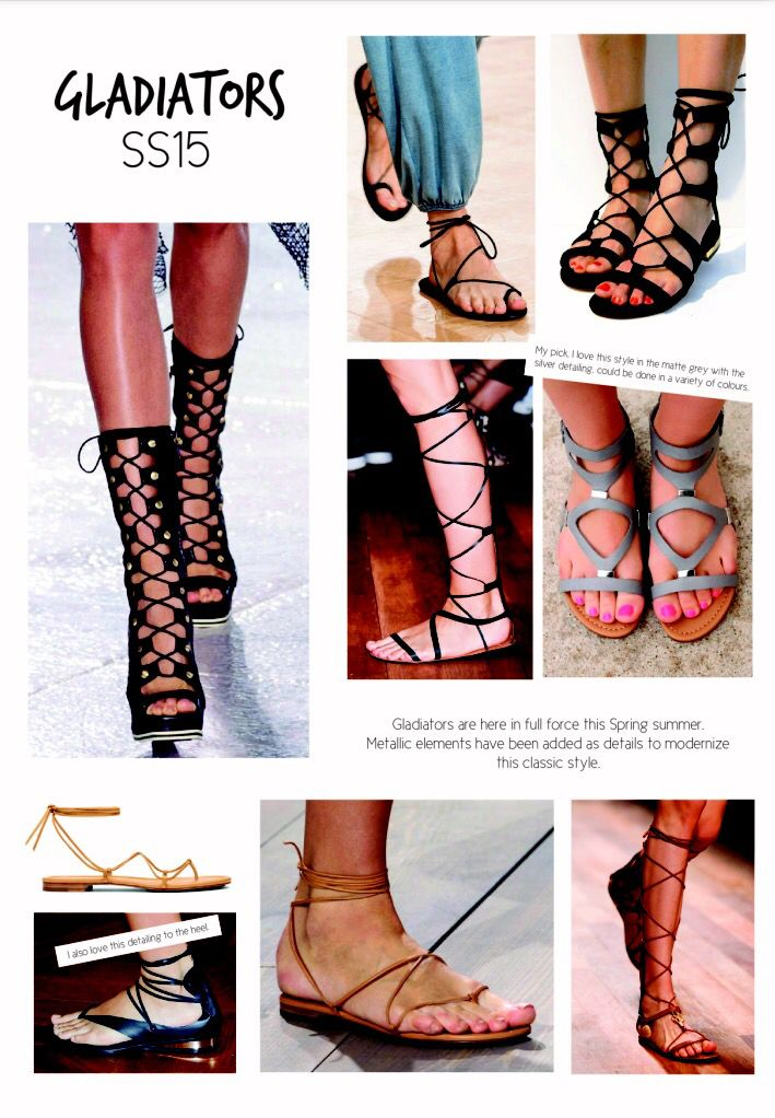 SS15 women's shoe trends. Gladiators