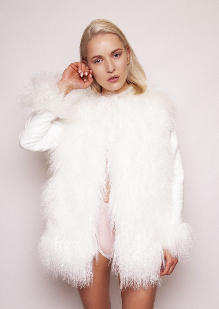 Wool and mongolian sheepskin coat by Catriona Kelly 2015. Learn fashion design at the Grafton Academy #Dublin