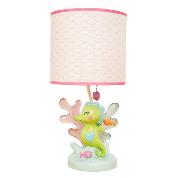 the sea animals fish baby girls nursery lamp base shade by carters. Black Bedroom Furniture Sets. Home Design Ideas