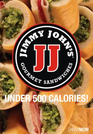 Check out our Jimmy John's menu that is under 500 calories!