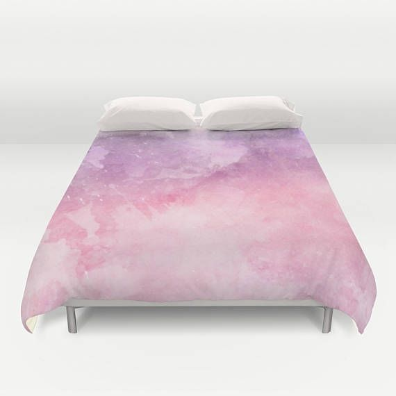 pink watercolor texture duvet cover bed cover bedroom decor
