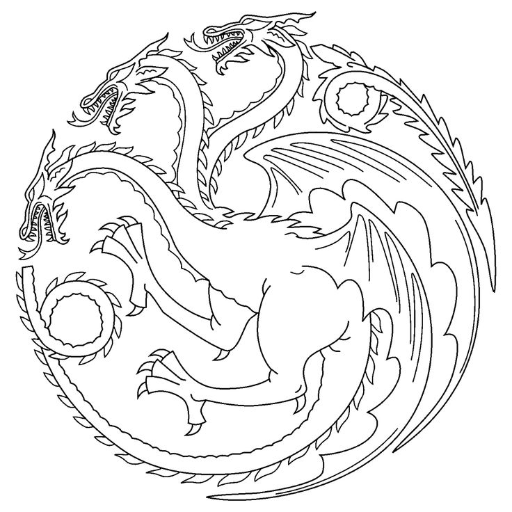 Game of Thrones Colouring in Page  Tagaryen  Colouring in Pages
