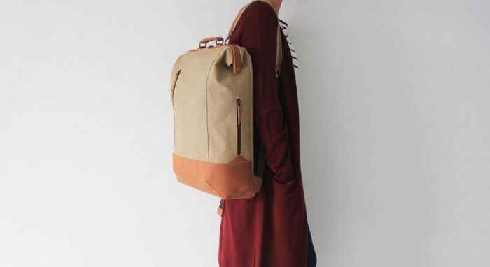Sarah Das – Doctor Backpack – Canvas and leather