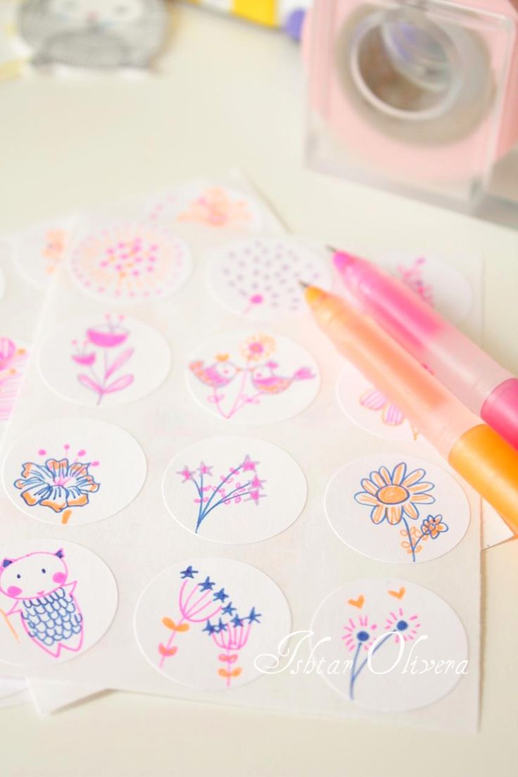 Car stickers design your own - Make Your Own Stickers Draw Paint Or Stamp On Cheap Circle Labels