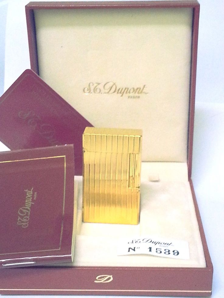 S.+T.+DUPONT+LIGHTER+~+POCHE+GATSBY+~+18+K+GOLD+~+NEW+IN+THE+BOX+WITH+PAPERS+~+STUNNING+!!!