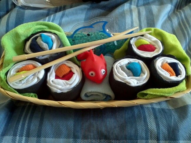 Baby sushi gift - made by me.